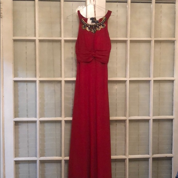 Whole Folks Dresses Red Beaded Wedding Guest Dress Poshmark